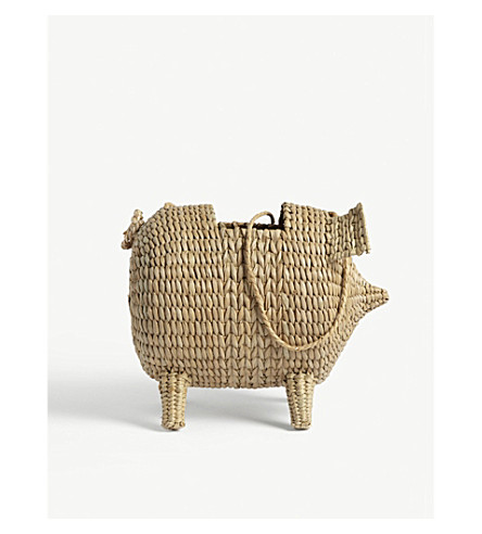 CULT GAIA The Babe straw shoulder bag (Natural