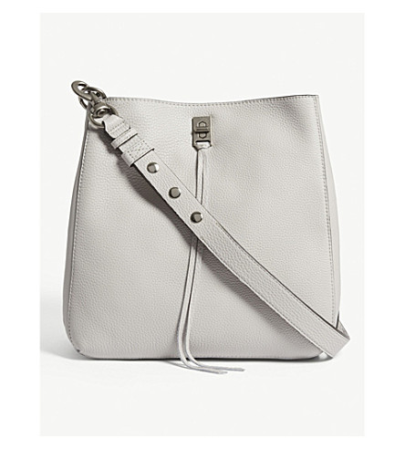 REBECCA MINKOFF Darren grained leather shoulder bag (Putty