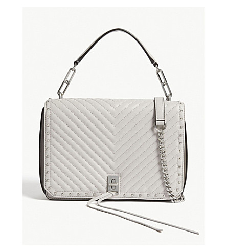REBECCA MINKOFF Becky chevron-quilted leather shoulder bag (Putty