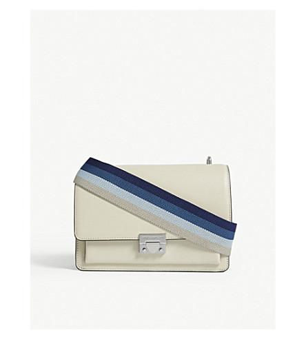 REBECCA MINKOFF Christy leather shoulder bag (Alabster+multi