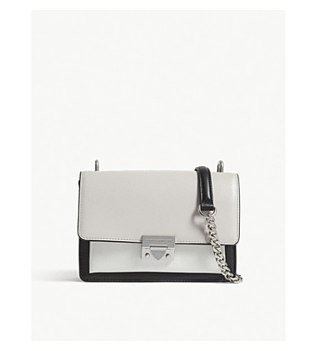 REBECCA MINKOFF Christy colour-block leather shoulder bag (Putty+multi