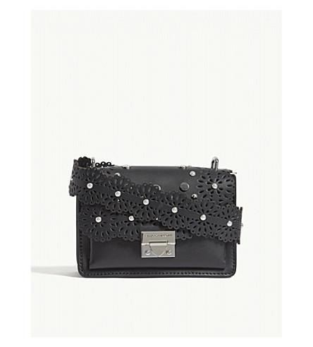 REBECCA MINKOFF Christy embellished leather shoulder bag (Black