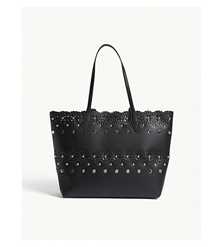 REBECCA MINKOFF Structured leather tote (Black