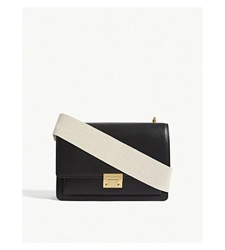 REBECCA MINKOFF Christy leather shoulder bag (Black+multi