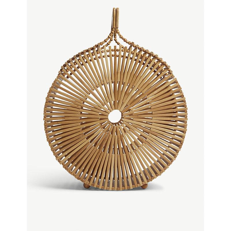 Round bamboo bag