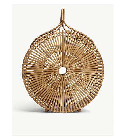 CULT GAIA圆竹袋 (天然 + 棕褐色)