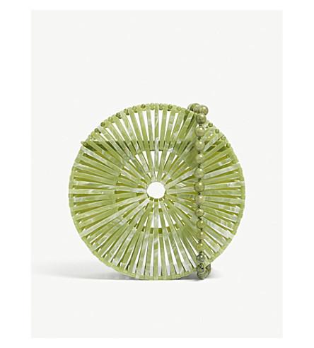 CULT GAIA Luna pearlescent acrylic crossbody bag (Jade+green