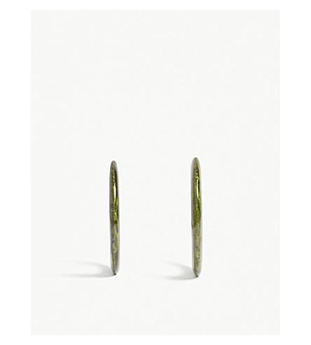 CULT GAIA Kennedy resin earrings (Malachite