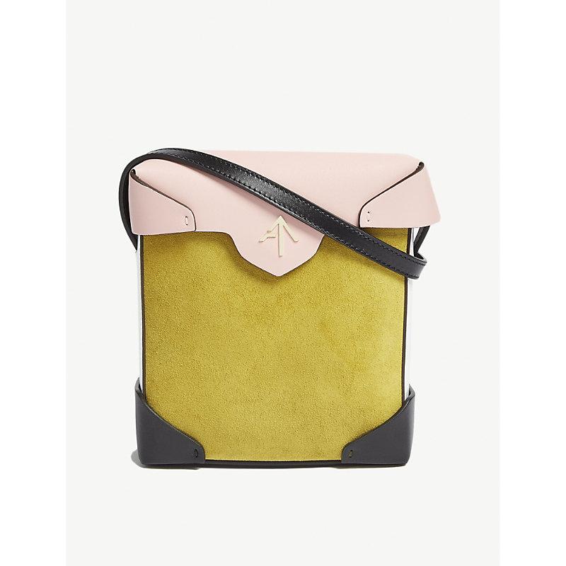 Mini Pristine leather and suede cross-body bag