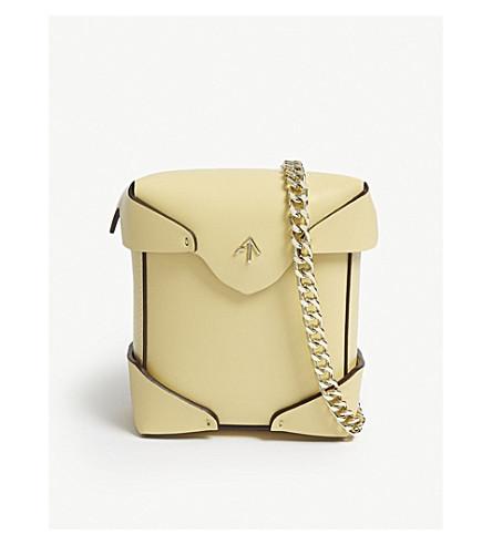 MANU ATELIER Micro Pristine leather cross-body bag (Antique+yellow