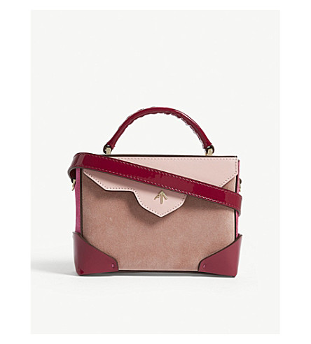 MICRO BOLD COMBO LEATHER SUEDE SHOULDER BAG