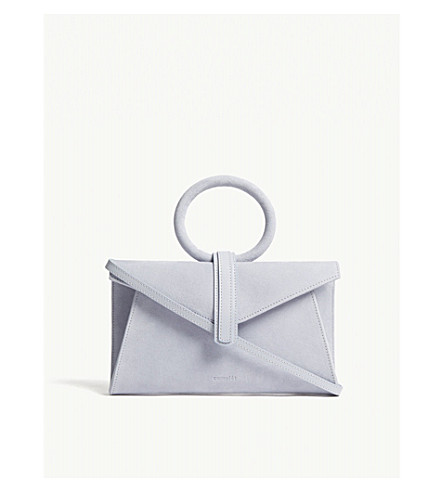 COMPLET Valery mini suede satchel (Baby+blue