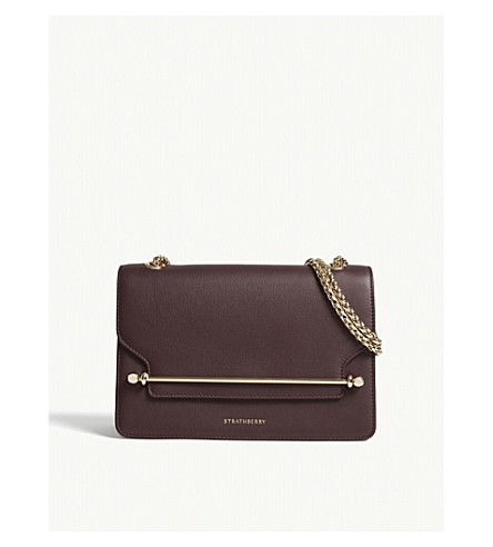 STRATHBERRY East/West leather cross-body bag