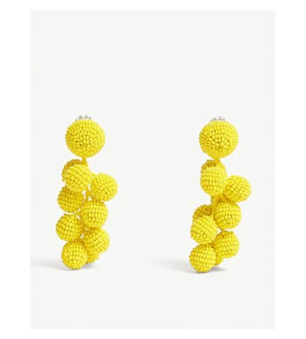 SACHIN & BABI Coconut glass bead drop earrings (Goldenrod