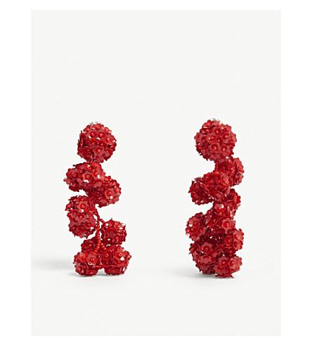 SACHIN & BABI Fleur Coconut glass bead and sequin drop earrings (Gojiberry
