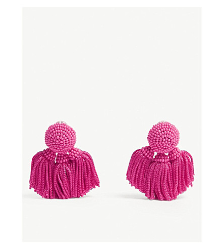 SACHIN & BABI Chacha tassel beaded earrings (Fuchsia