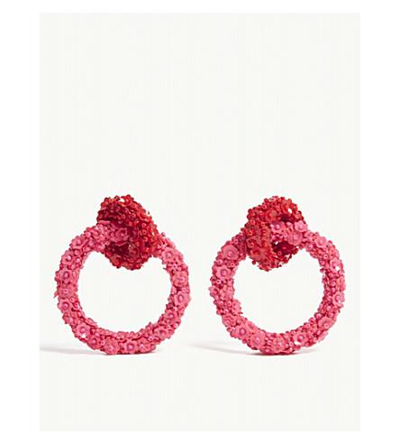 沙钦坦 & BABI 芙蓉双环耳环 (Goldenberry/紫红色