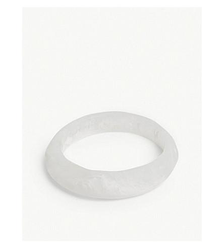DINOSAUR DESIGNS Organic resin small bangle (Snow swirl