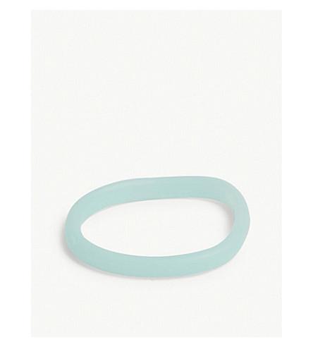 DINOSAUR DESIGNS Wishbone resin bangle (Celadon