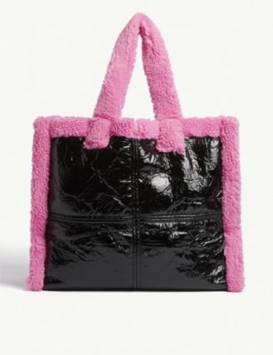 Lola shearling tote bag(8353889)