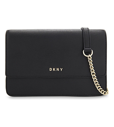 DKNY Sutton small leather shoulder bag (Black