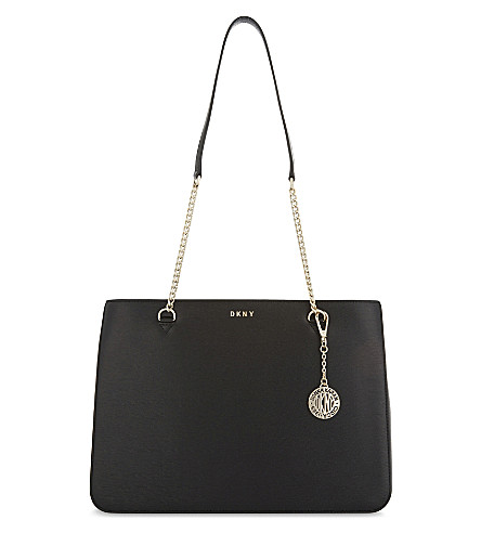 DKNY Sutton leather shoulder bag (Black