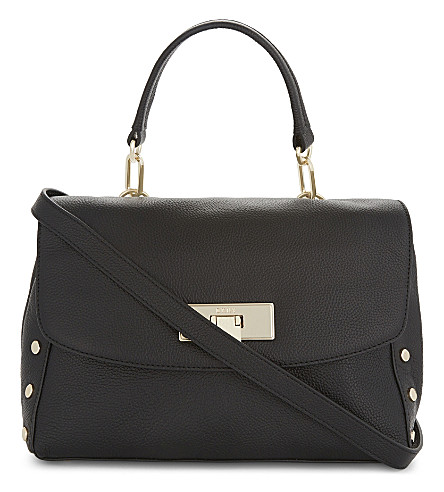 DKNY Chelsea medium leather satchel (Black
