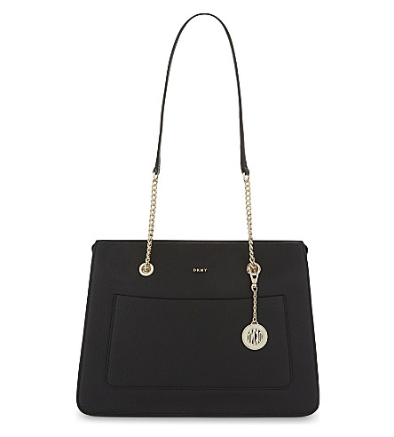 DKNY Chelsea top-zip leather tote (Black