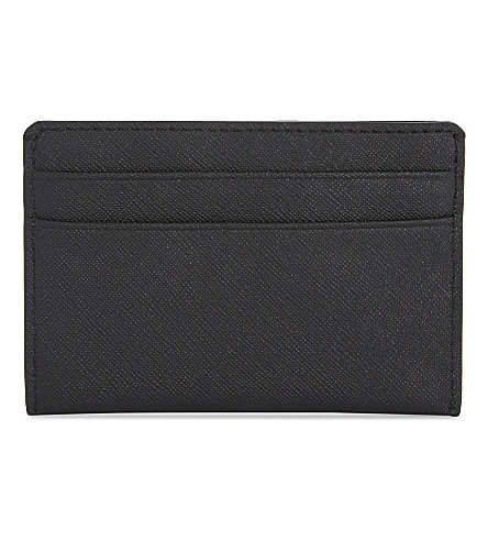 DKNY Bryant Park Saffiano leather card holder (Black