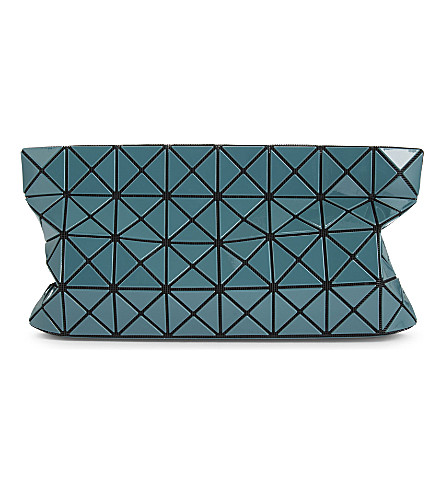 BAO BAO ISSEY MIYAKE Prism glossy clutch (Deep+green