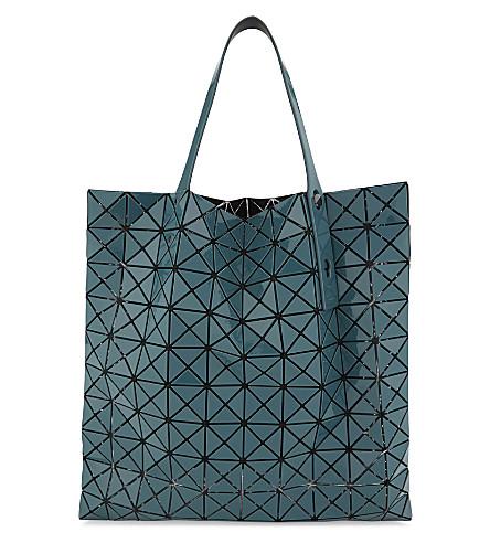 BAO BAO ISSEY MIYAKE Prism glossy tote (Deep+green