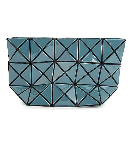 BAO BAO ISSEY MIYAKE Prism gloss pouch (Deep+green