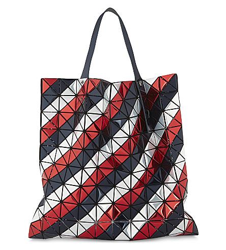 BAO BAO ISSEY MIYAKE Platinum metallic tote bag (Navy