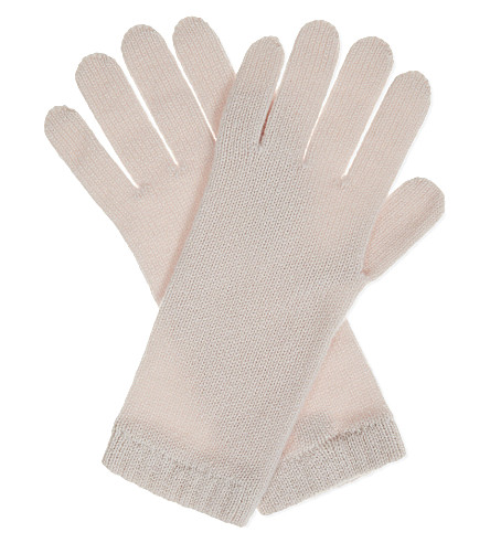 JOHNSTONS Knitted cashmere gloves (Cameo