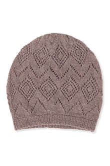 JOHNSTONS Pointelle cashmere hat