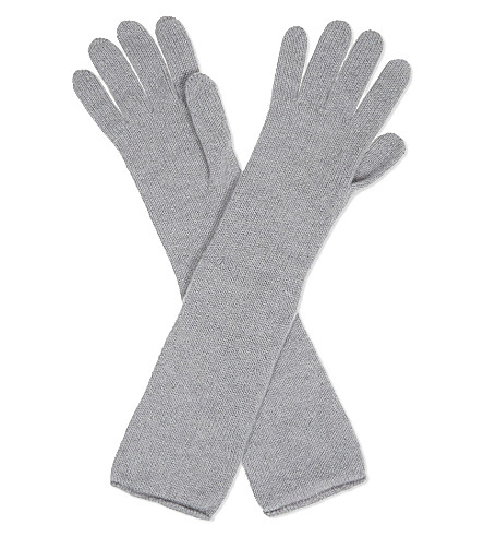 JOHNSTONS Long cashmere gloves (Coyote