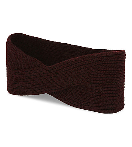 JOHNSTONS Cashmere headband (Port