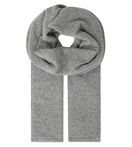 JOHNSTONS Silk paillettes cashmere stole (Light+grey