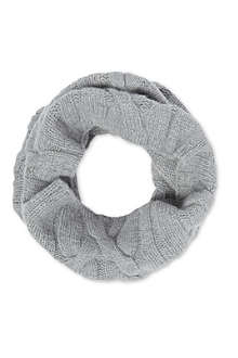 JOHNSTONS Chunky cable knit snood
