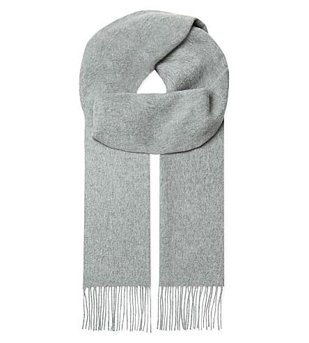 JOHNSTONS Cashmere plain scarf (Light+grey
