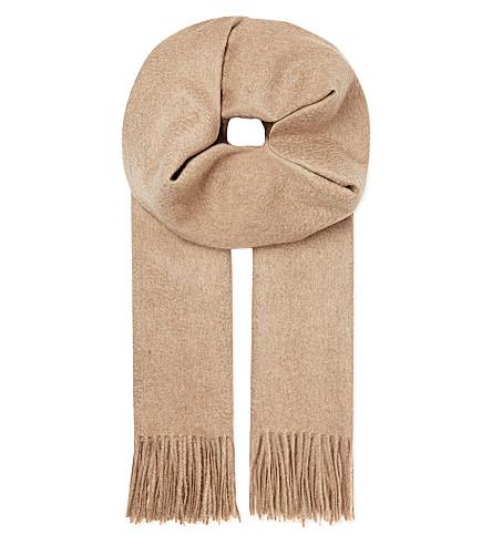 JOHNSTONS Cashmere plain 190x70 scarf (Otter