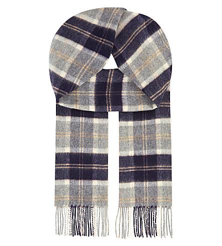 JOHNSTONS Bannockbane tartan cashmere scarf (Silver+bannockbane