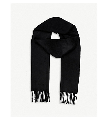 JOHNSTONS Classic cashmere scarf (Black