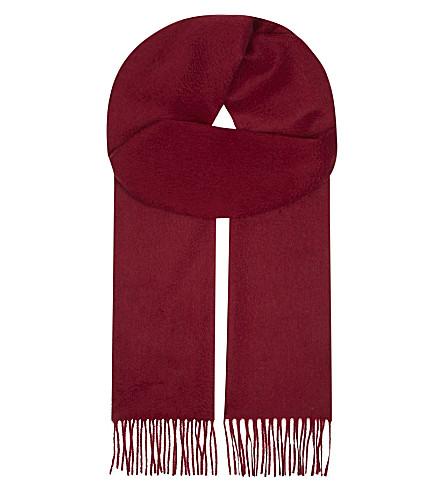 JOHNSTONS Cashmere scarf (Claret