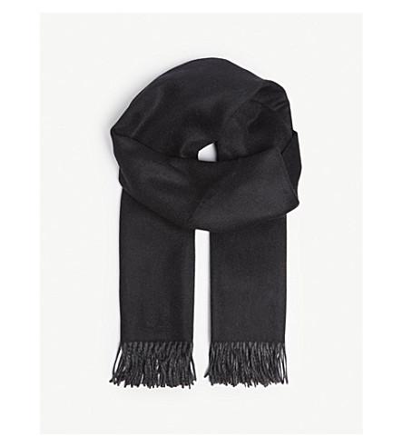 JOHNSTONS Reversible cashmere scarf (Black/grey