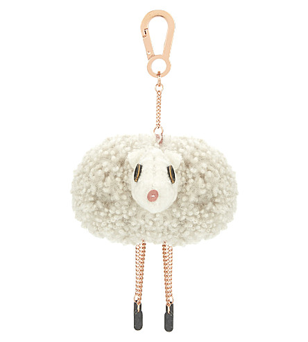 KARL DONOGHUE Woollen sheep bag charm (Almond