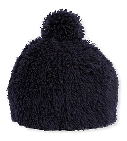 KARL DONOGHUE Pom pom merinillo lambskin hat (Eclipse
