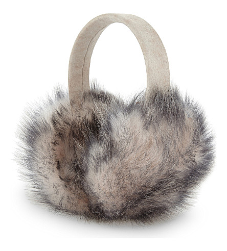KARL DONOGHUE Foxy Toscana lambskin earmuffs (Porcelain