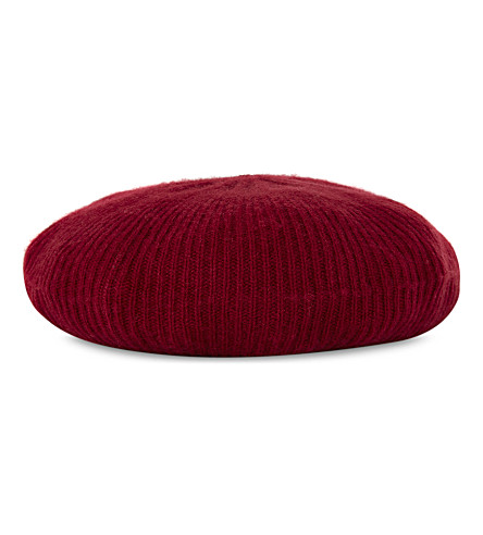 CASH CA Milled cashmere hat (Deep+red