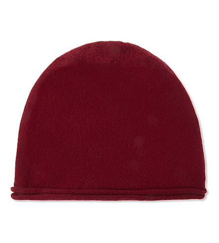 CASH CA Cashmere beanie (Deep+red